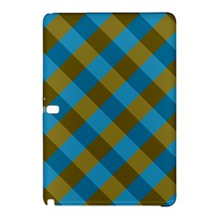 Plaid Line Brown Blue Box Samsung Galaxy Tab Pro 10.1 Hardshell Case