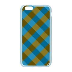 Plaid Line Brown Blue Box Apple Seamless iPhone 6/6S Case (Color)