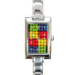 Pinterest Water Colorfull Rectangle Italian Charm Watch