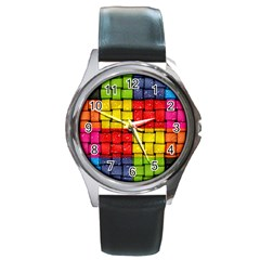 Pinterest Water Colorfull Round Metal Watch