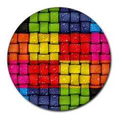 Pinterest Water Colorfull Round Mousepads