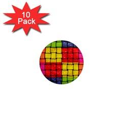 Pinterest Water Colorfull 1  Mini Magnet (10 pack)