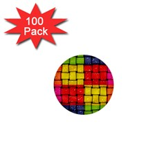 Pinterest Water Colorfull 1  Mini Buttons (100 pack)