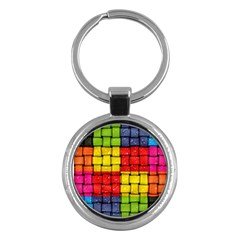 Pinterest Water Colorfull Key Chains (Round)