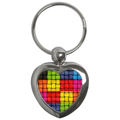 Pinterest Water Colorfull Key Chains (Heart)