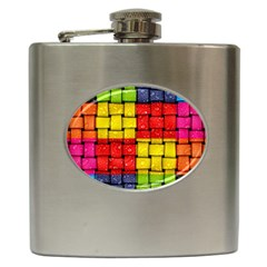 Pinterest Water Colorfull Hip Flask (6 oz)