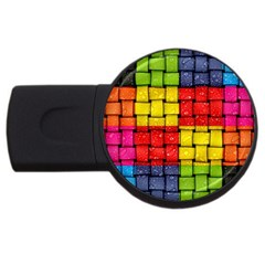 Pinterest Water Colorfull USB Flash Drive Round (1 GB)
