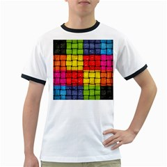 Pinterest Water Colorfull Ringer T-Shirts