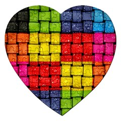 Pinterest Water Colorfull Jigsaw Puzzle (Heart)