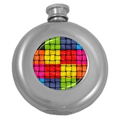Pinterest Water Colorfull Round Hip Flask (5 oz)