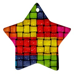 Pinterest Water Colorfull Star Ornament (Two Sides)