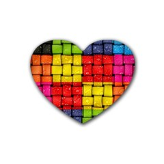 Pinterest Water Colorfull Rubber Coaster (Heart)