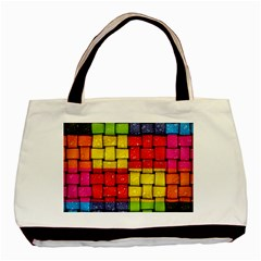 Pinterest Water Colorfull Basic Tote Bag (Two Sides)