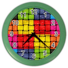 Pinterest Water Colorfull Color Wall Clocks