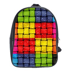 Pinterest Water Colorfull School Bags(Large)