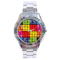 Pinterest Water Colorfull Stainless Steel Analogue Watch