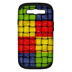 Pinterest Water Colorfull Samsung Galaxy S III Hardshell Case (PC+Silicone)