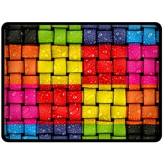 Pinterest Water Colorfull Double Sided Fleece Blanket (Large)