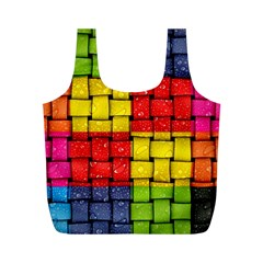 Pinterest Water Colorfull Full Print Recycle Bags (M)