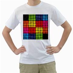 Pinterest Water Colorfull Men s T-Shirt (White)