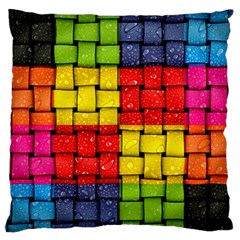 Pinterest Water Colorfull Large Flano Cushion Case (Two Sides)