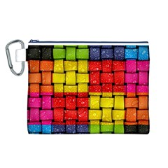 Pinterest Water Colorfull Canvas Cosmetic Bag (L)