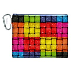 Pinterest Water Colorfull Canvas Cosmetic Bag (XXL)