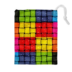 Pinterest Water Colorfull Drawstring Pouches (Extra Large)
