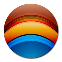Rainbow Color Round Mousepads