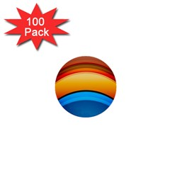 Rainbow Color 1  Mini Buttons (100 pack)