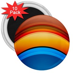 Rainbow Color 3  Magnets (10 pack)