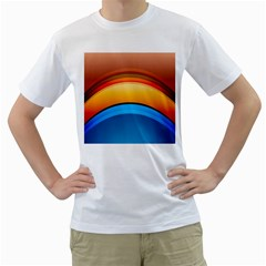 Rainbow Color Men s T-Shirt (White) (Two Sided)