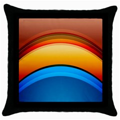 Rainbow Color Throw Pillow Case (Black)