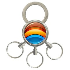 Rainbow Color 3-Ring Key Chains