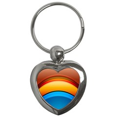 Rainbow Color Key Chains (Heart)