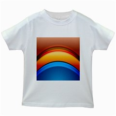 Rainbow Color Kids White T-Shirts