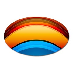 Rainbow Color Oval Magnet