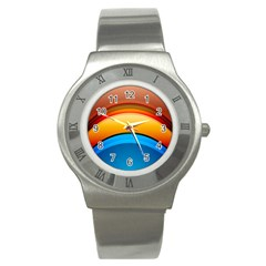 Rainbow Color Stainless Steel Watch