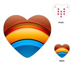 Rainbow Color Playing Cards (Heart)