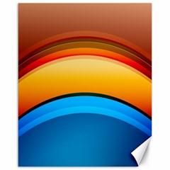 Rainbow Color Canvas 16  x 20