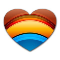 Rainbow Color Heart Mousepads