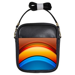Rainbow Color Girls Sling Bags