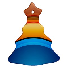 Rainbow Color Christmas Tree Ornament (2 Sides)
