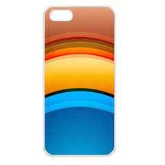 Rainbow Color Apple iPhone 5 Seamless Case (White)