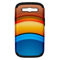 Rainbow Color Samsung Galaxy S III Hardshell Case (PC+Silicone)