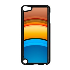 Rainbow Color Apple iPod Touch 5 Case (Black)