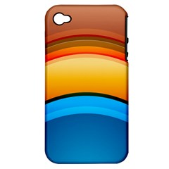 Rainbow Color Apple iPhone 4/4S Hardshell Case (PC+Silicone)