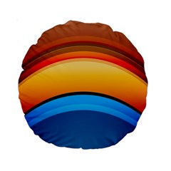 Rainbow Color Standard 15  Premium Round Cushions