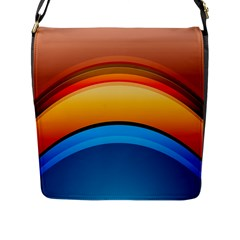 Rainbow Color Flap Messenger Bag (L)