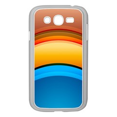 Rainbow Color Samsung Galaxy Grand DUOS I9082 Case (White)